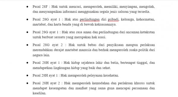 Hak Warga Negara Menurut UUD 1945