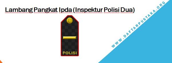Lambang Pangkat Ipda (Inspektur Polisi Dua)