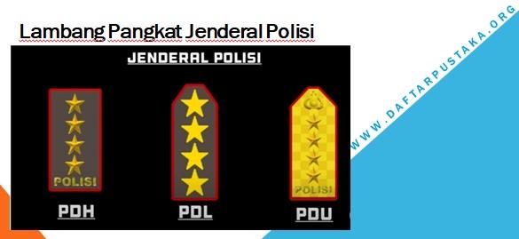 Lambang Pangkat Jenderal Polisi