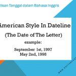 Penulisan Tanggal dalam Bahasa Inggris